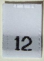 50 pcs WOVEN WHITE CLOTHING LABELS - SIZE 12 - ... - $5.77