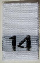 50 pcs WOVEN WHITE CLOTHING LABELS - SIZE 14 - ... - $5.77