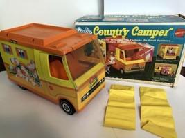 Mattel Barbie Country Camper 1970 Used 2 Yellow Sleeping Bags Original Box  - $39.60