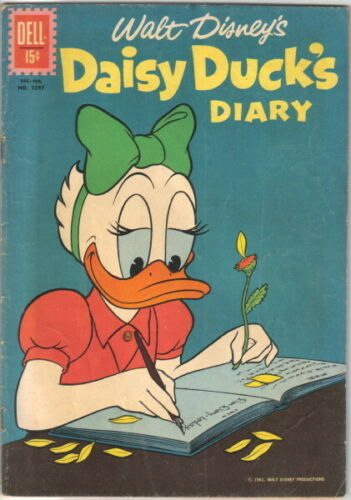 Daisy Duck's Diary Four Color Comic Book #1247 Dell Comics 1962 FINE-