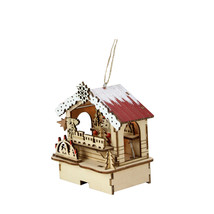 "4.25"" Lighted Wooden Laser Cut Toy Shop Christmas Ornament - tkcc - $43.95"