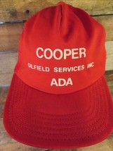 COOPER Oilfield Services Inc ADA Vintage Trucker Snapback Adult Hat Cap - $26.72