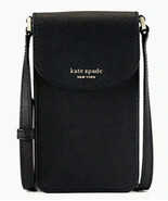 Kate Spade Cameron north south flap Leather phone crossbody ~NWT~ Black - $88.11
