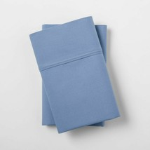 Threshold Ultra Soft Solid Blue Standard Pillowcase Set 300 Thread Count 2 COUNT image 1