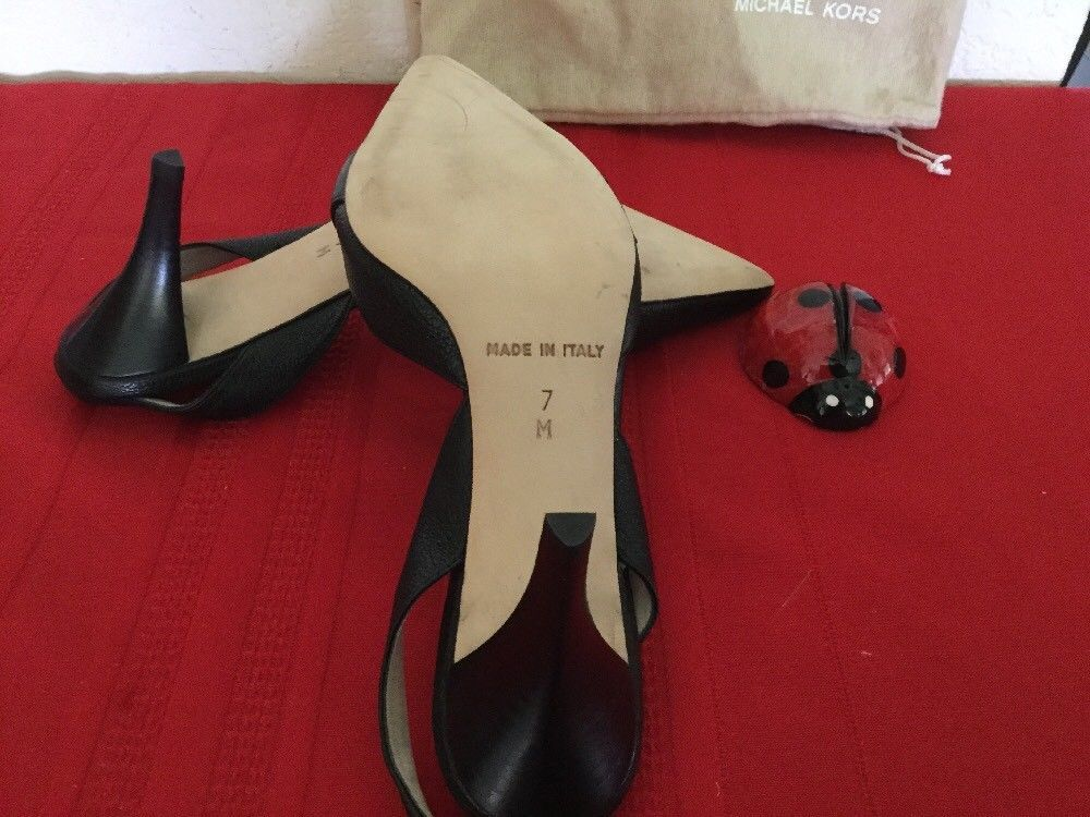 Michael Kors  Womens High Heel Slingback Black Leather  Sz 7M image 5