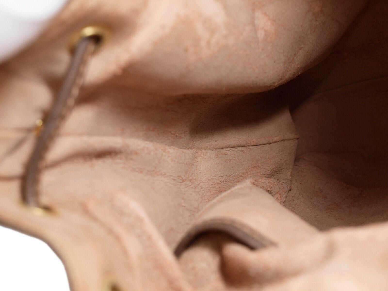 GUCCI GG Web PVC Canvas Leather Browns Drawstring Shoulder Bag GS2171 image 9