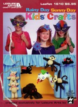Rainy Day Sunny Day Kids's Crafts 1610 Bookmark, Magnets, Masks, Puppet ... - $7.95