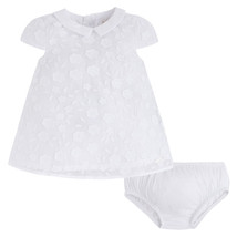 Mayoral Baby Girl 0M-12M White Floral Lace A-line Social Dress