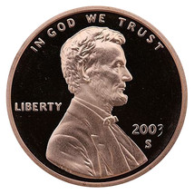 2003-S Lincoln Memorial Cent Penny Gem Proof US Mint Coin Uncirculated UNC - $7.99
