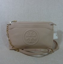 NWT Tory Burch Light Oak Leather Bombe Chain Cross Body Bag $395 - $314.82