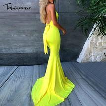 Tobinoone 2019 Halter Backless Sexy Dress Women Evening Party Dresses De... - $44.79