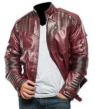 Star Lord Costume Guardians of Galaxy Vol 2 Chris Pratt Biker Leather Jacket image 1