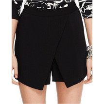 NWT Ralph Lauren Black Angled Front Woven Shorts High Rise Faux Wrap Skirt 12 - $19.79