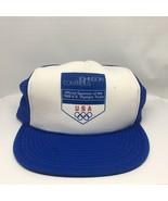 Vintage 1989 Olympics Johnson Controls USA Trucker Mesh Cap Hat SnapBack - $19.99
