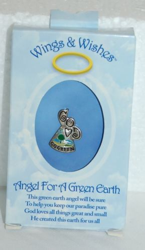 DM Merchandising Wings Wishes Green Earth Angel Product Number WGW3-GREEN