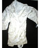 NWT $795 New Designer Josie Natori Silk White Embroidered Womens Wrap Ro... - $516.75