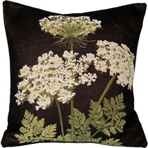 Pillow Decor - Umbel Floral French Tapestry Throw Pillow 19x19 - $79.95