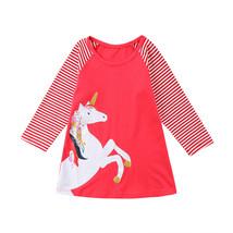 NEW Girls Unicorn Pink Long Sleeve Tunic Dress 3T 4T 5T 6 7 8 - $10.99