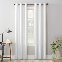 "No. 918 Montego Casual Textured Grommet Curtain Panel, 48"" x 108"", White - $15.75"