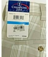 Champions Tour Beige Plaid Golf Shorts Mens 36 Moisture Wicking Lightwei... - $26.61