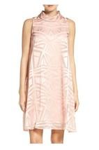 Vince Camuto Pink  Size 6 Mock-Neck Trapeze Shift Dress originally $168 #D1031 - $68.72