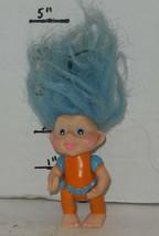 "Vintage My Lucky Russ Berrie Troll 4"" Poseable Figure blue Hair - $14.03"