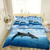 3D Sunshine White Cloud Dolphin KEP424 Bed Pillowcases Quilt Duvet Cover... - $66.96+