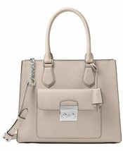Michael Kors Bridgette Small North-South Messenger Bag Cement/Silver - $116.91