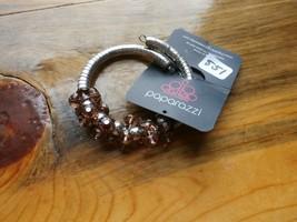 Paparazzi Bracelet(New)Silver W/ Brown Beads 551 - $7.61