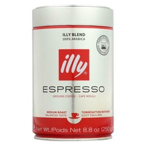 Illy Caffe Coffee Coffee - Espresso - Ground - Medium Roast - 8.8 Oz - Case Of 6 - $105.97
