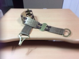 CHICOS Bronze Leather / Brass Stretch  Belt Size Small - $9.05