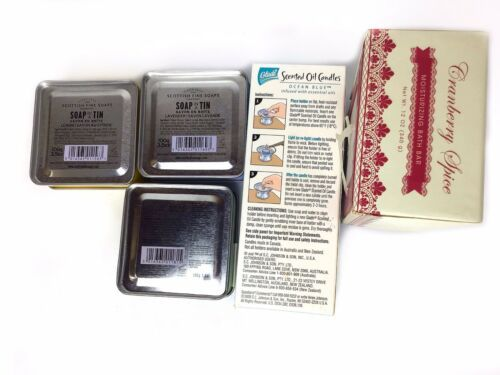 Lot Of New Scottish Fine Soaps Glade Ocean Blue Cranberry Spice Moisturizing Bar image 3