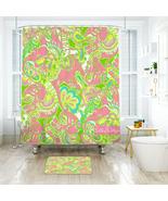 Flower Lilly Chin Chin Shower Curtain Waterproof & Bath Mat For Bathroom - $15.30+