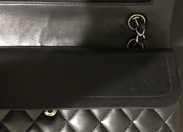 100% Authentic Chanel BLACK QUILTED LAMBSKIN MEDIUM CLASSIC DOUBLE FLAP BAG SHW image 11