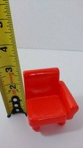 Fisher Price My First Dollhouse furniture piece half of red sofa couch c... - $4.94