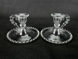 Pair of Vintage Candle Holders, Imperial Glass, Candlewick Pattern #400/90 - $24.45