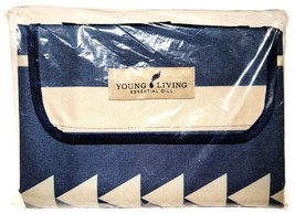 "New Young Living Blue Gray 50"" x 60"" Picnic Blanket - $39.55"