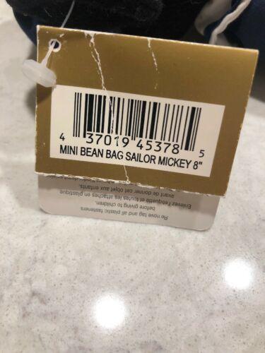 "Disney Bean Bag Plush - SAILOR MICKEY Mickey Mouse 8"" Stuffed Animal Plush A10"