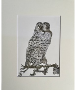 OWL IN GREYSCALE  - $40.00