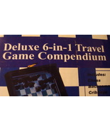 Deluxe 6 in 1 Travel Game Leather Box - Brand New - $9.99