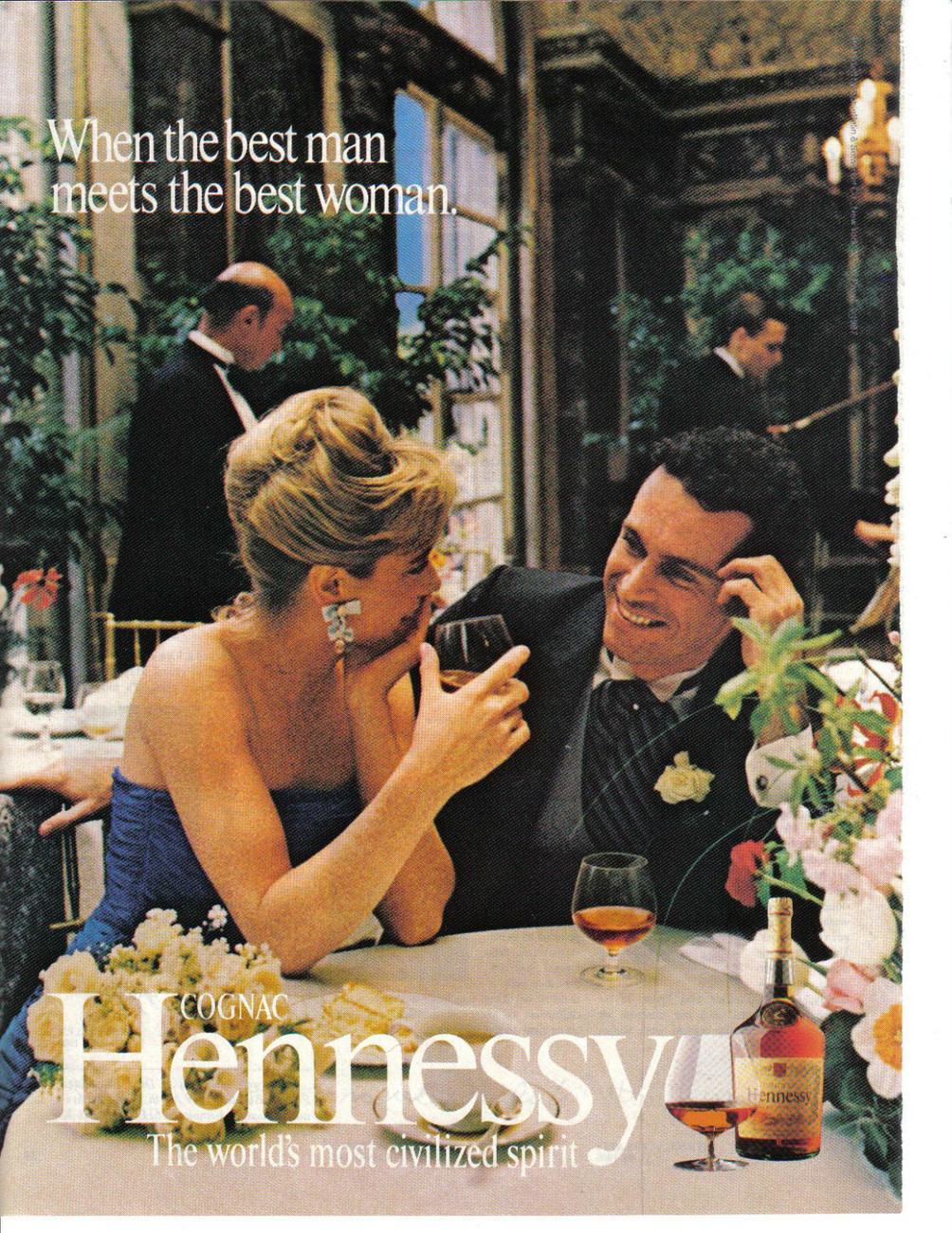 Primary image for Hennessy Cognac 2 Full Color Pages Print Ads  1980's - Original- Near Mint