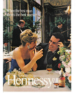 Hennessy Cognac 2 Full Color Pages Print Ads  1980's - Original- Near Mint - $3.49