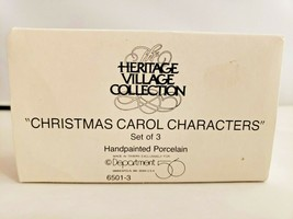 Heritage Village Collection 3 Christmas Carol Characters Dpt 56 6501-3  ... - $28.05