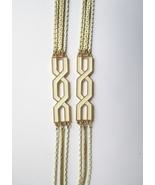 Monet Long Gold Tone & White Enamel Multichain ... - $75.00