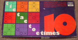 TIC TAC TOE TIMES 10 BOARD GAME SELCHOW & RIGHTER 1977 #82 MANY UNPUNCHE... - $35.00