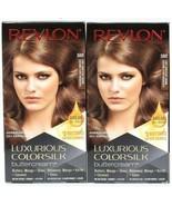 (2) Revlon 58IR Light Iridescent Brown Luxurious Colorsilk Permanent But... - $17.81