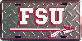 NCAA Florida State University Metal Diamond Car License Plate - $6.95