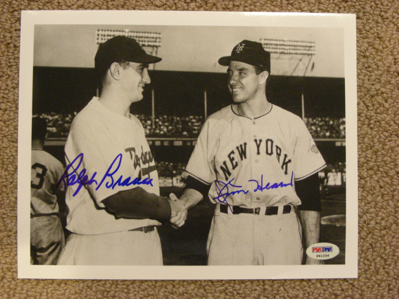 Primary image for RALPH BRANCA & JIM HEARN DODGER/GIANTS A/S PITCHERS SIGNED AUTO 8X10 PSA/DNA