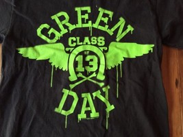 Green Day Shirt Adult Small Class Of 13  Punk Rock Shirt 2009 Grunge Day glow - $14.24