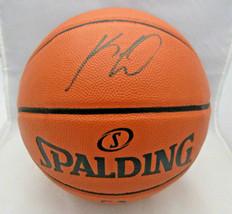 KAWHI LEONARD / L.A. CLIPPERS / AUTOGRAPHED FULL SIZE NBA LOGO BASKETBALL / COA image 1